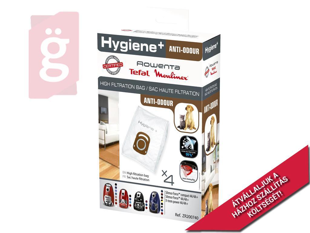 Kép a(z) IZ-R16GY72S Rowenta Hygiene+ Anti-Odour Gyári mikroszálas porzsák (4db/csomag) ZR200720 nevű termékről