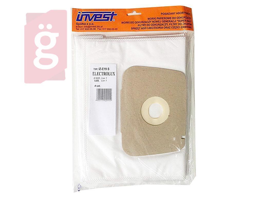 Kép a(z) IZ-E19S Invest  LUX-kompatibilis LUX 1 / D820 / D815 mikroszálas porzsák (5db/csomag) nevű termékről