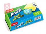 Kép a(z) Paclan Practi Soft Power Szivacs 3db/csomag (Műanyag dörzsi résszel a karcolás mentes tisztításért!) nevű termékről