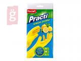 Kép a(z) Paclan Practi Gumikesztyű Extra Erős - M-es méret 1 pár/csomag (Citrom illattal, gyapjúbevonattal ellátott) nevű termékről