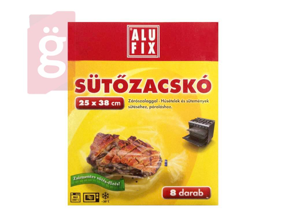 Kép a(z) ALUFIX Sütőzacskó 8db 25x38cm (zárószalaggal) Mikrohullámú sütőbe-Sütőben is használható nevű termékről