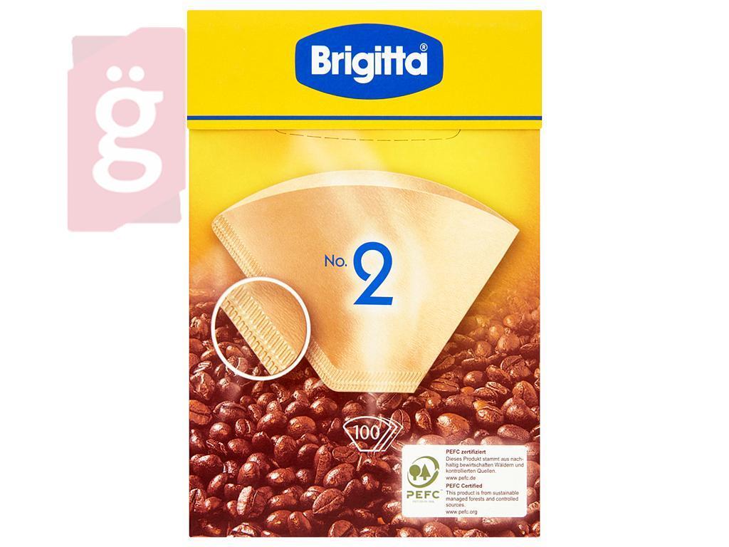 Kép a(z) BRIGITTA Papír kávéfilter 2 személyes (100db/csomag) nevű termékről