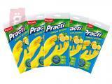 Kép a(z) Paclan Practi Gumikesztyű Extra Erős - L-es méret 5 pár/csomag (Citrom illattal, gyapjúbéléssel ellátott) nevű termékről