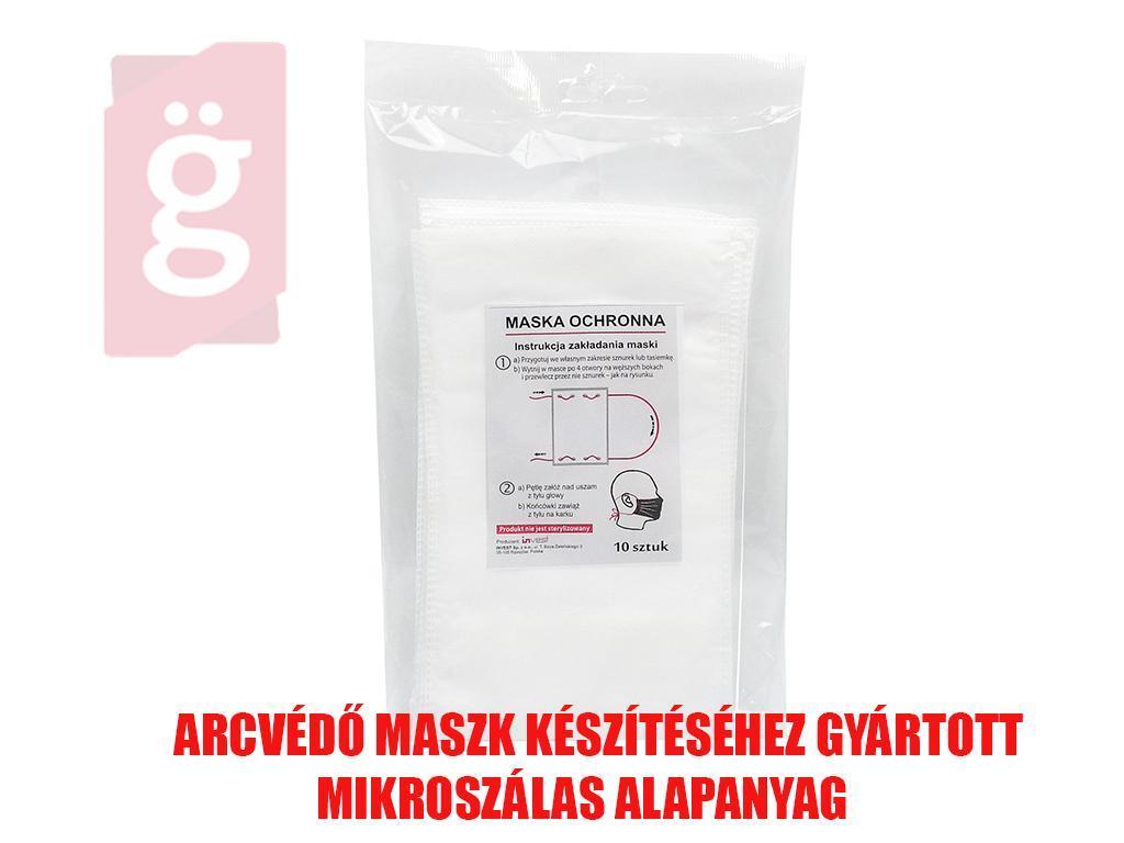 Kép a(z) IZ-MASKA Arcvédő Maszk készítéséhez gyártott mikroszálas alapanyag (10db/csomag) 160mmx295mm nevű termékről