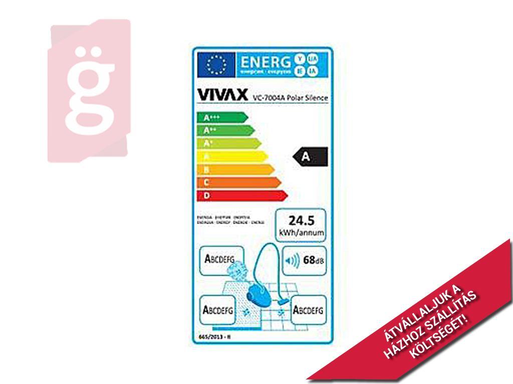 Kép a(z) Vivax VC-7004A szuper csendes porzsákos porszívó / 700W / (E602) nevű termékről