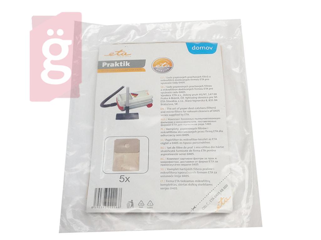 Kép a(z) IZ-405GY.1F ETA 405 Gyári papír porzsák (5db+1filter/csomag) 040568000 nevű termékről